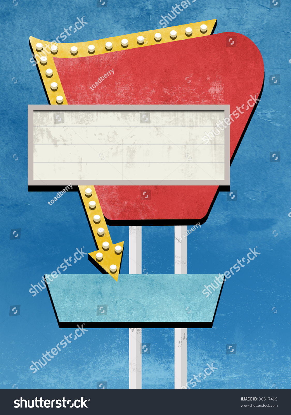 Retro Sign Design Stock Photo 90517495 : Shutterstock