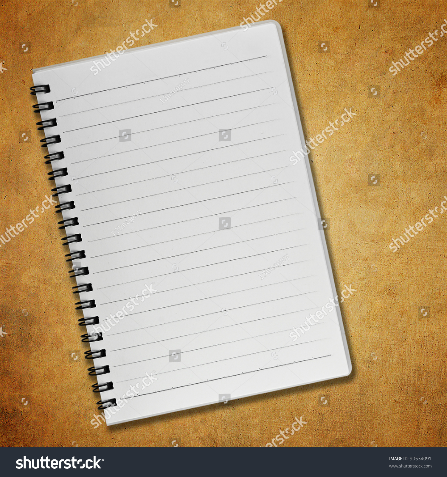 Blank Notebook On Old Paper Background Photo 90534091 – Blank Paper Background
