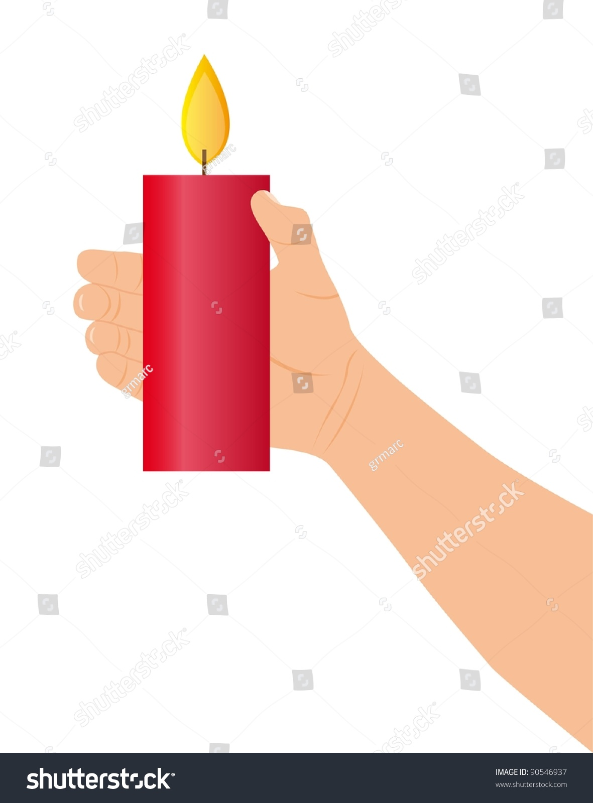 red candle white background - photo #44