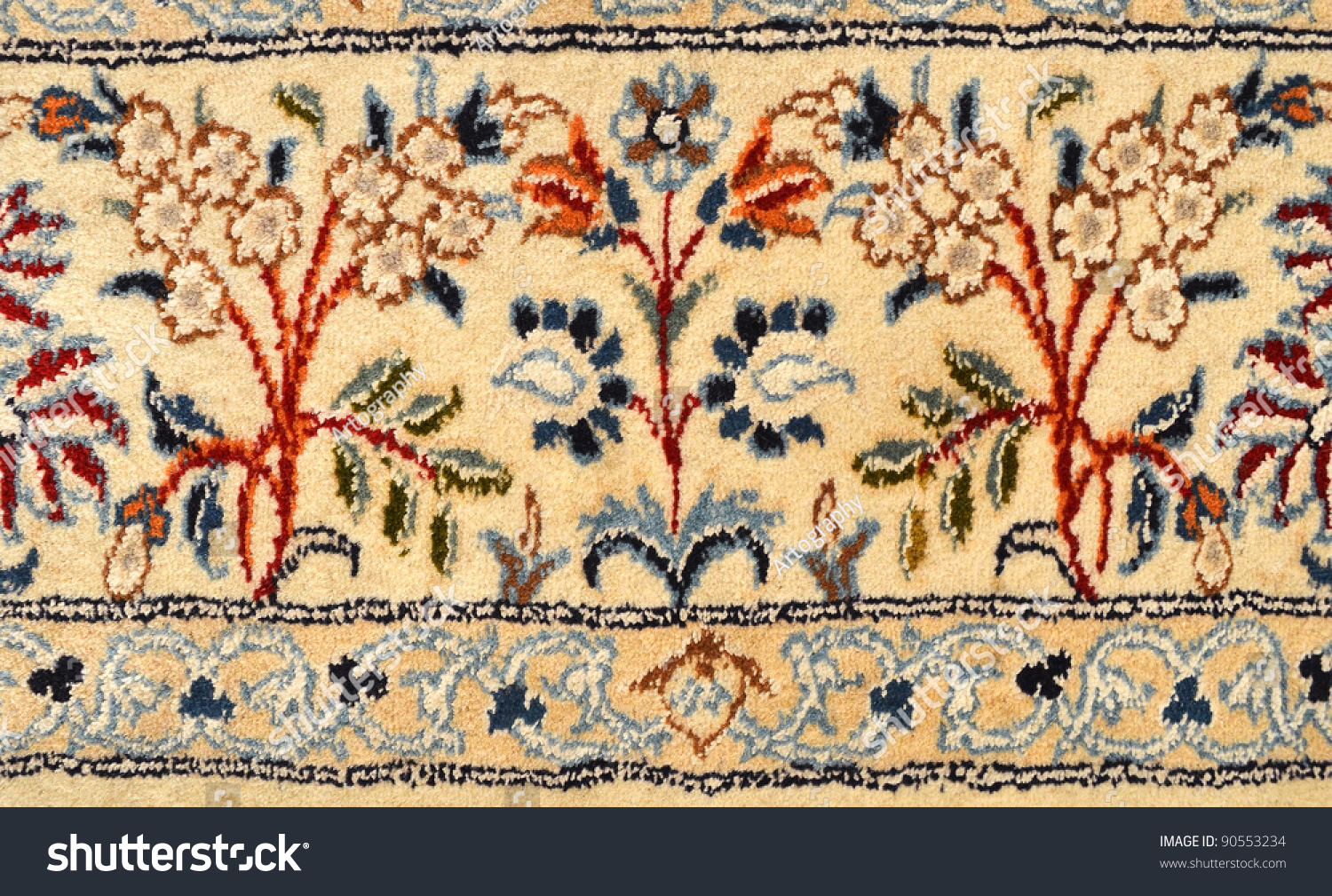 Antique Persian Carpet Pattern Stock Photo (100% Legal Protection ...