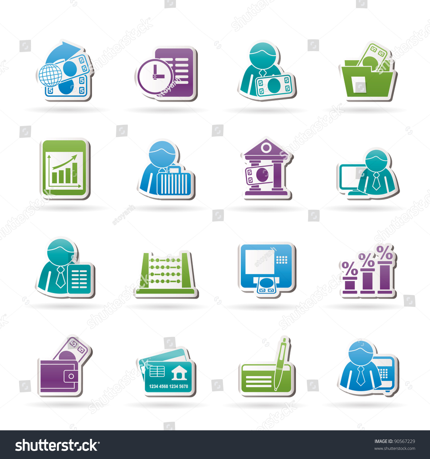 Finance Icon Set: Bank And Finance Icons