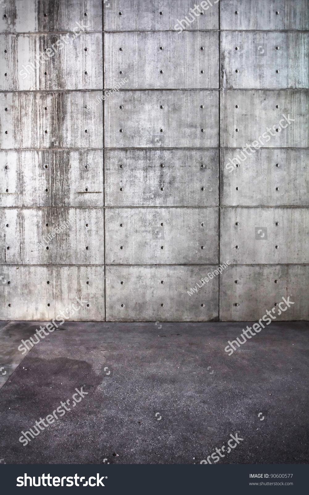 Grunge Bare Concrete Room Interior Uneven Stock Photo (Edit Now