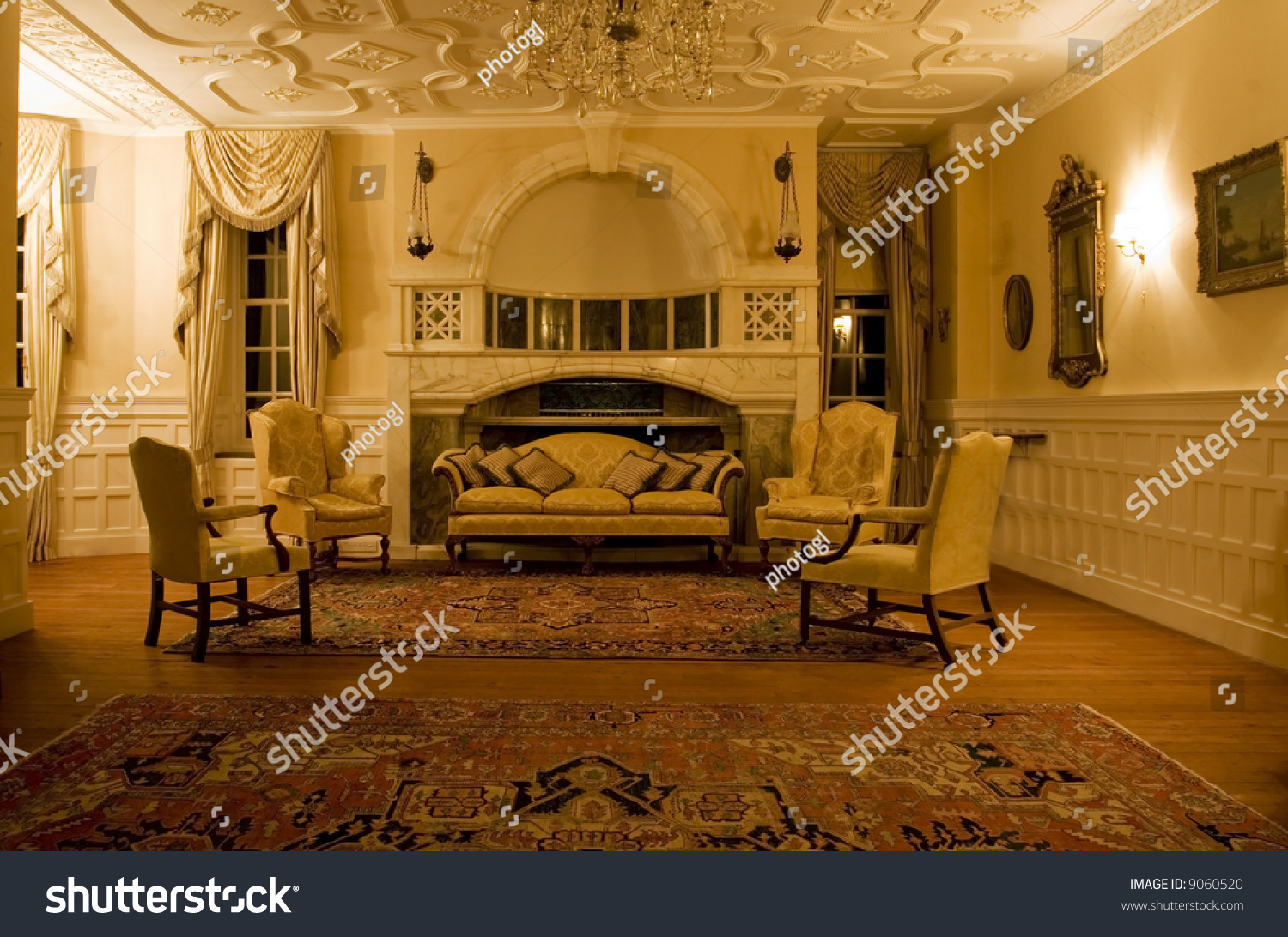 Period Living Room Classic Living Room Period Mansion Stock Photo 9060520 Shutterstock