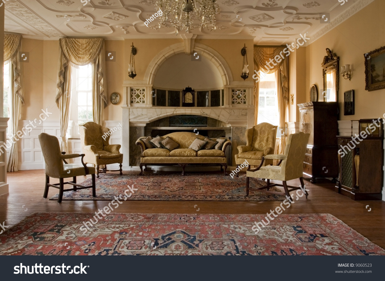 Classic Living Room Period Mansion Stock Photo 9060523 Shutterstock