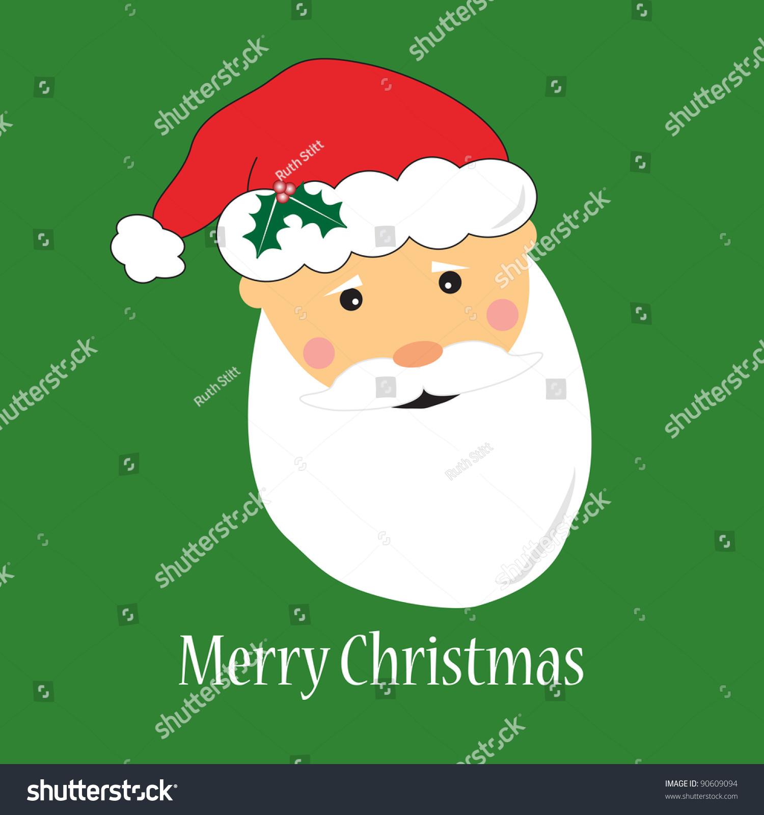 Santa Claus Greeting Card Ez Canvas