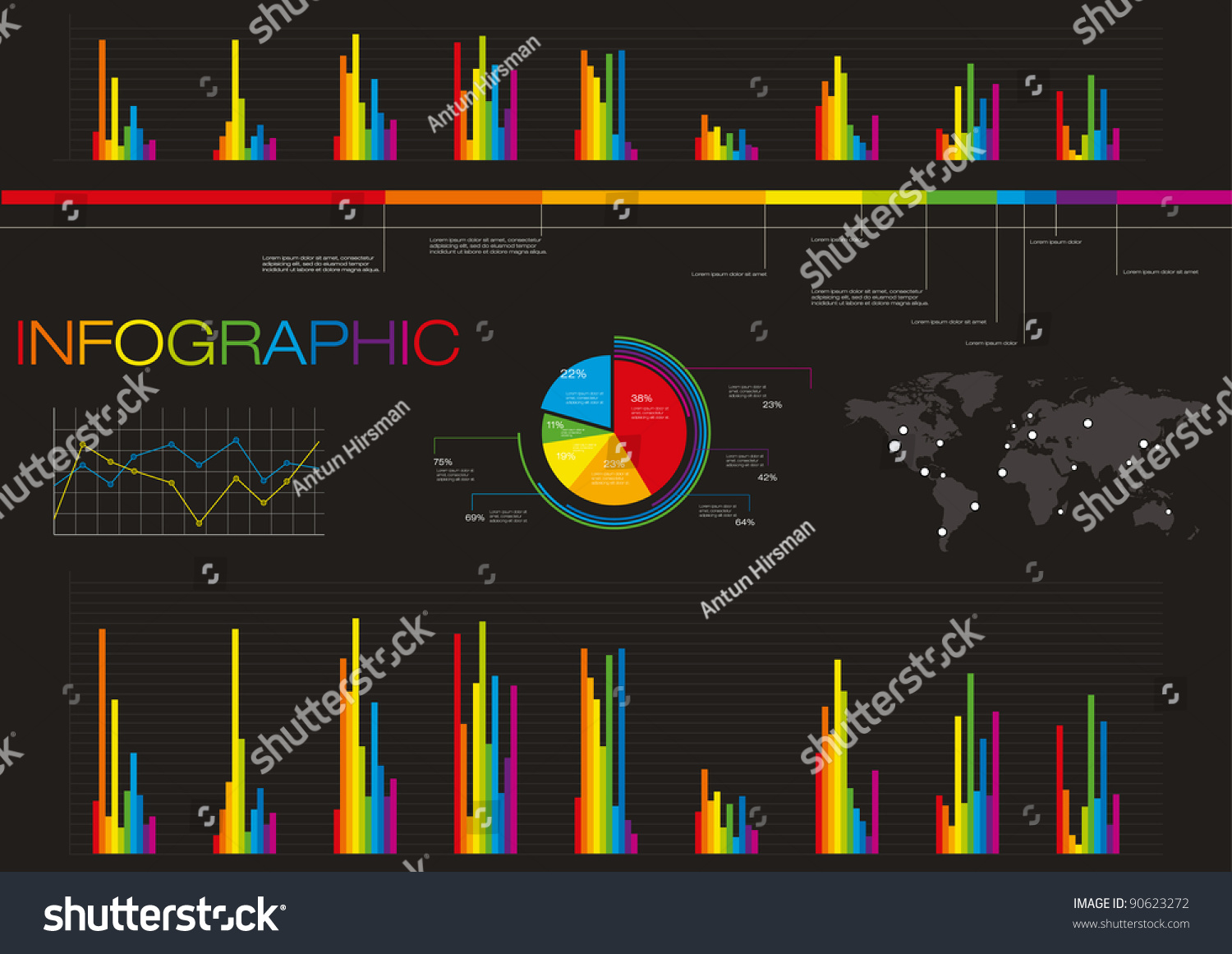 Colorful set elements infographics world map stock vector 90623272 colorful set elements of infographics world map and information graphics gumiabroncs Image collections