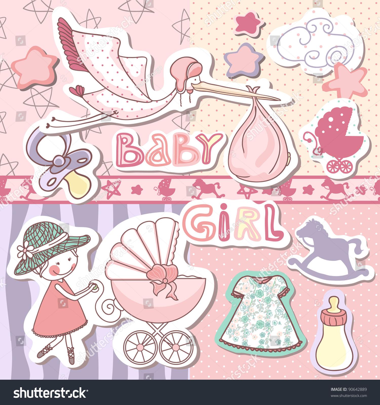 How to scrapbook for baby girl - Baby Girl Scrapbook Set