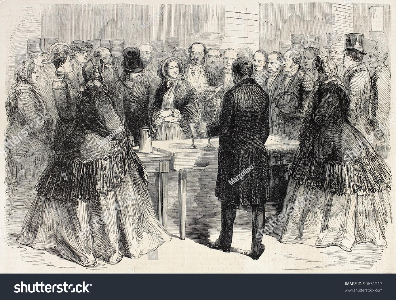Napoleon Iii Empress Eugenie Visiting Saint Gobain Stock Photo Edit