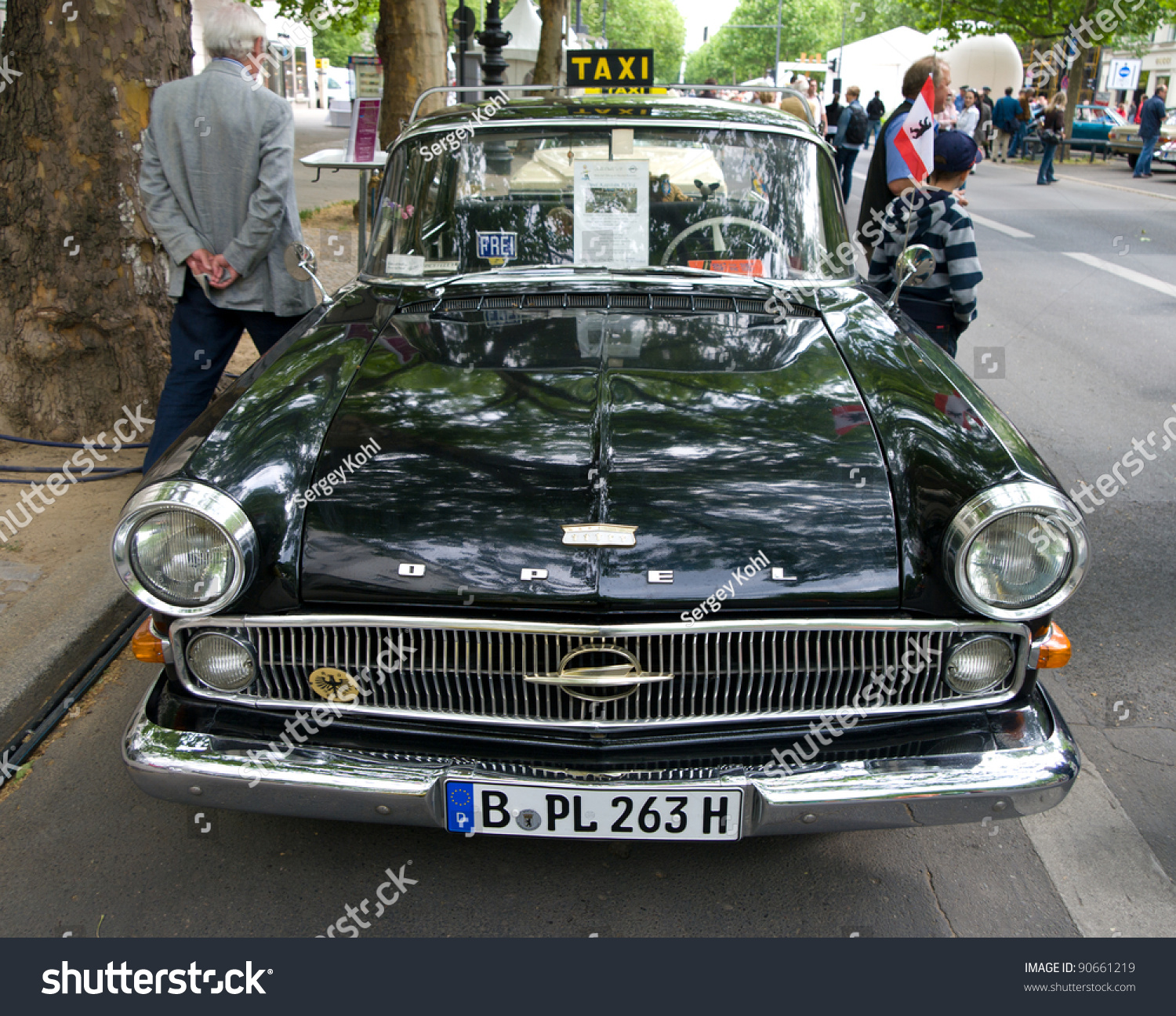 berlin may 28 opel kapitan taxi in 1956 the exhibition 125 car history 125 years of. Black Bedroom Furniture Sets. Home Design Ideas