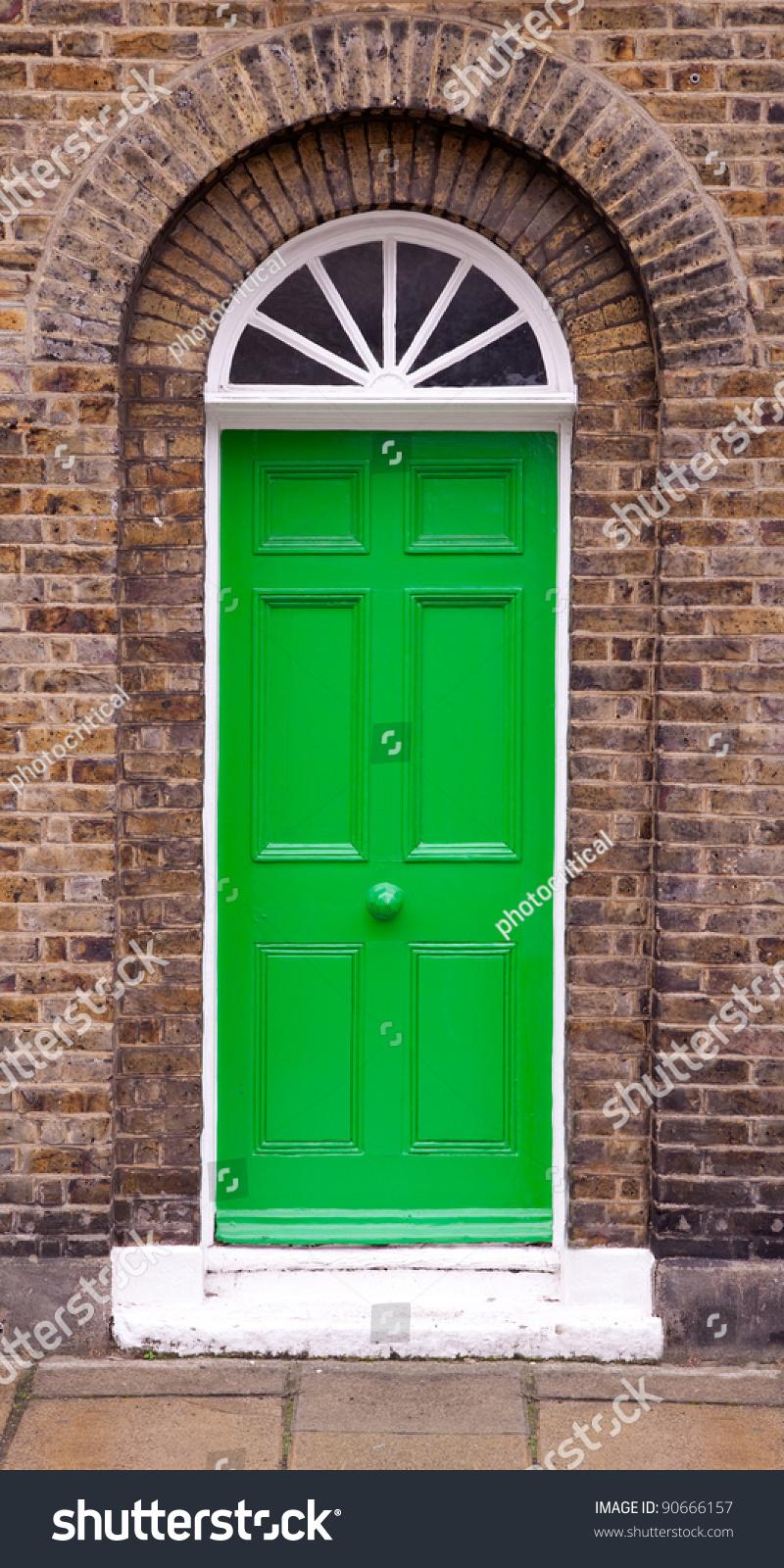 Green Front Door Stock Photo Shutterstock - Green front door