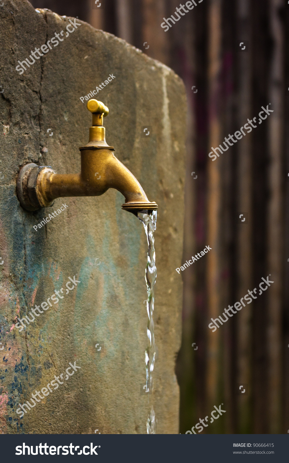 Old Rusty Water Tap On Cracked Stock Photo (Royalty Free) 90666415 ...