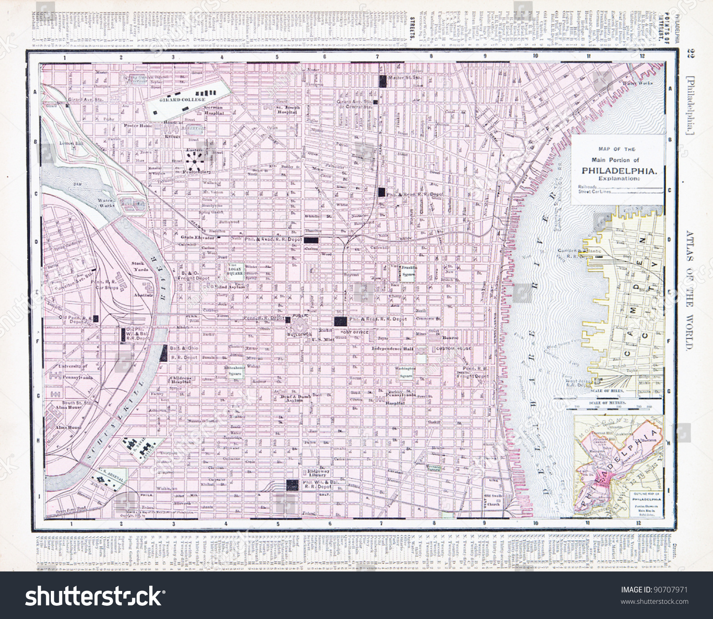 Street Map Philadelphia Pa Usa Spoffords Stock Photo - Philadelphia map in usa