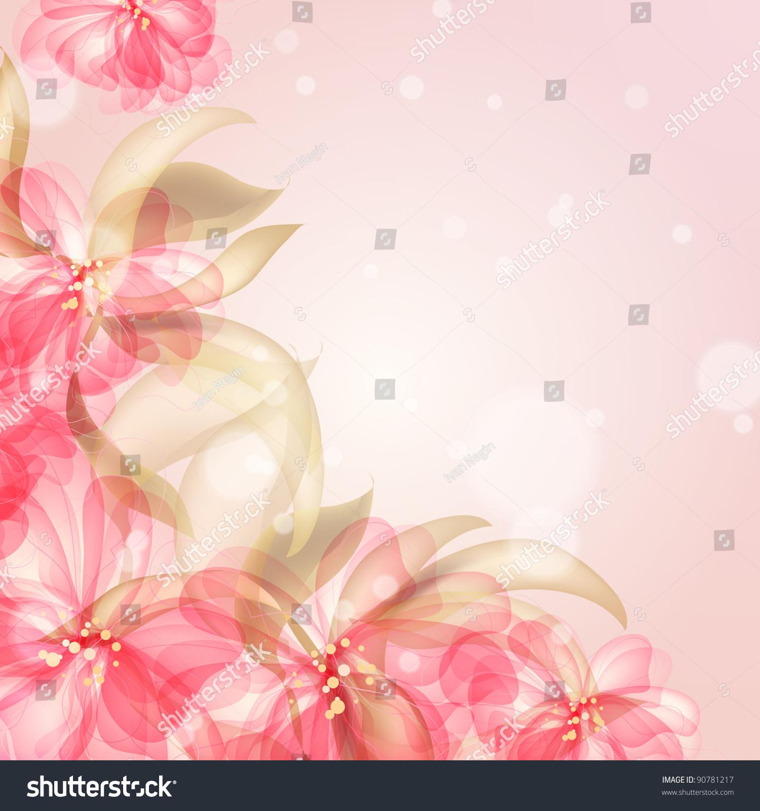 Красивый цветочный фон для поздравления 97
