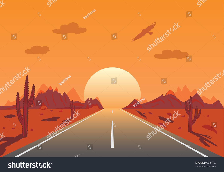 illustration of desert