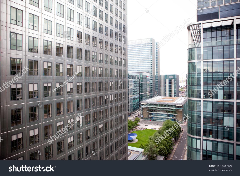 Office Buildings Canary Wharf London Stock Photo
