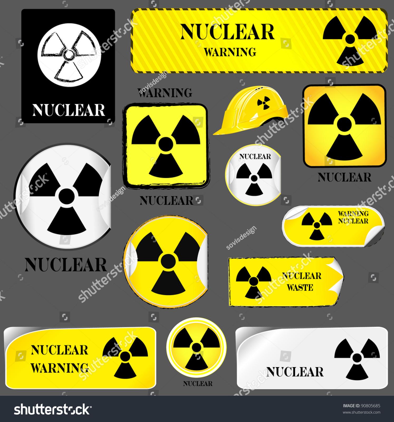 13 Nuclear Hazard Symbol Set Stock Illustration 90805685 Shutterstock