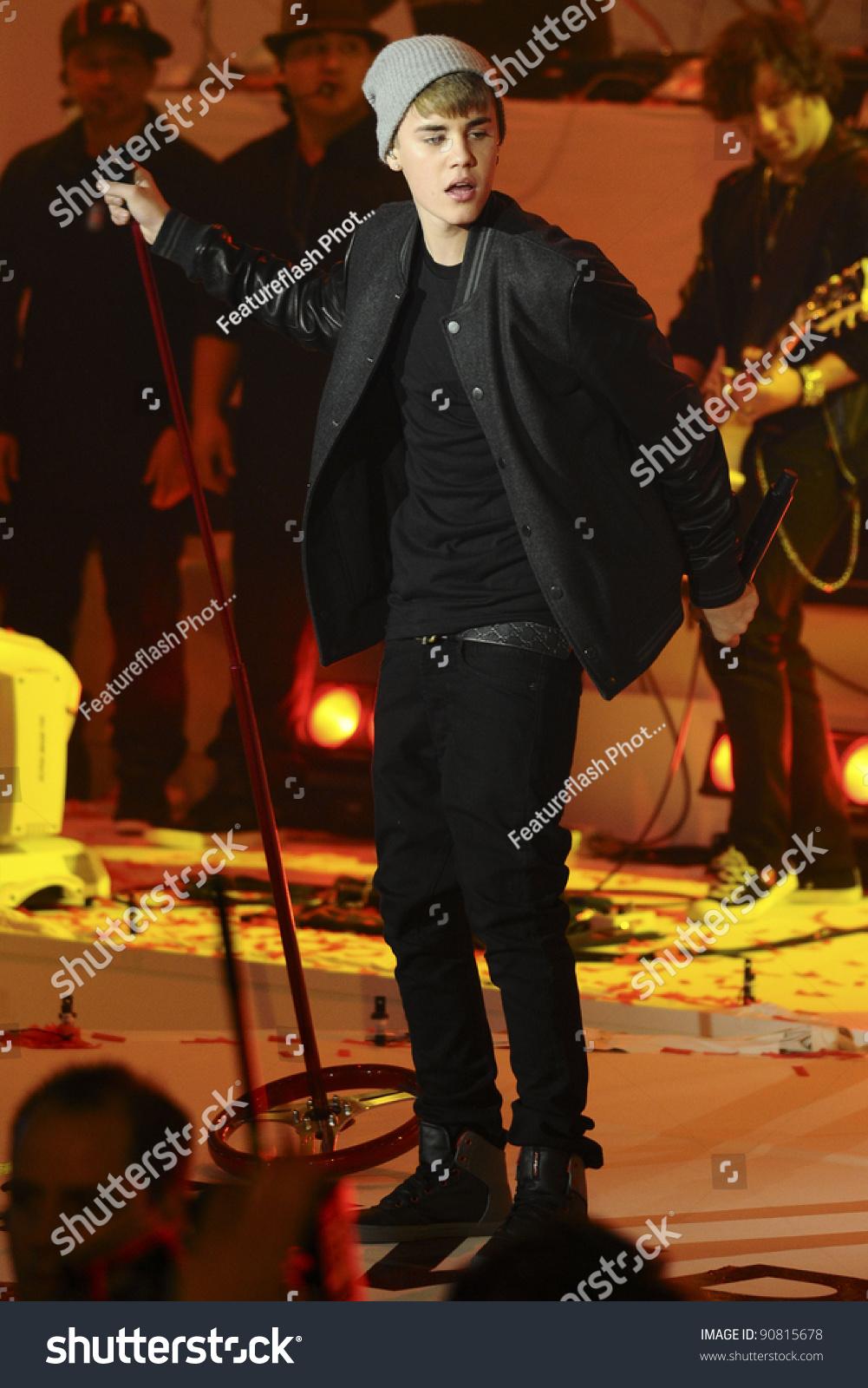 Justin Bieber Turns On Christmas Lights Stock Photo (Edit Now ...