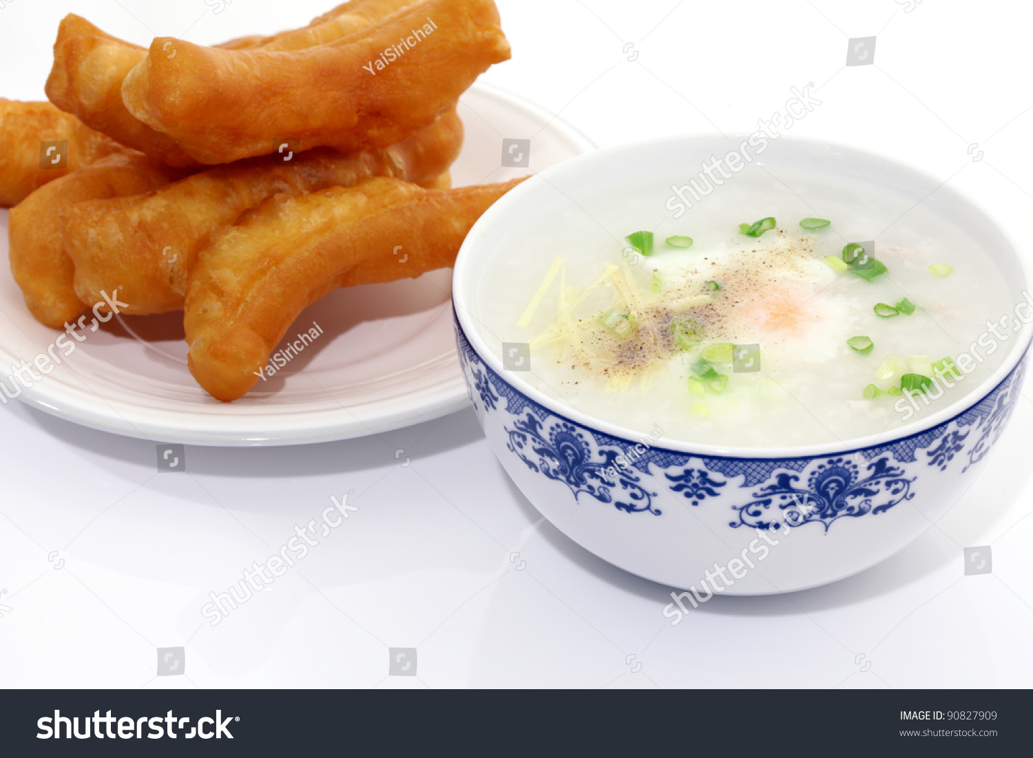 Congee Traditional Chinese Breakfast Stock Photo 90827909 ...