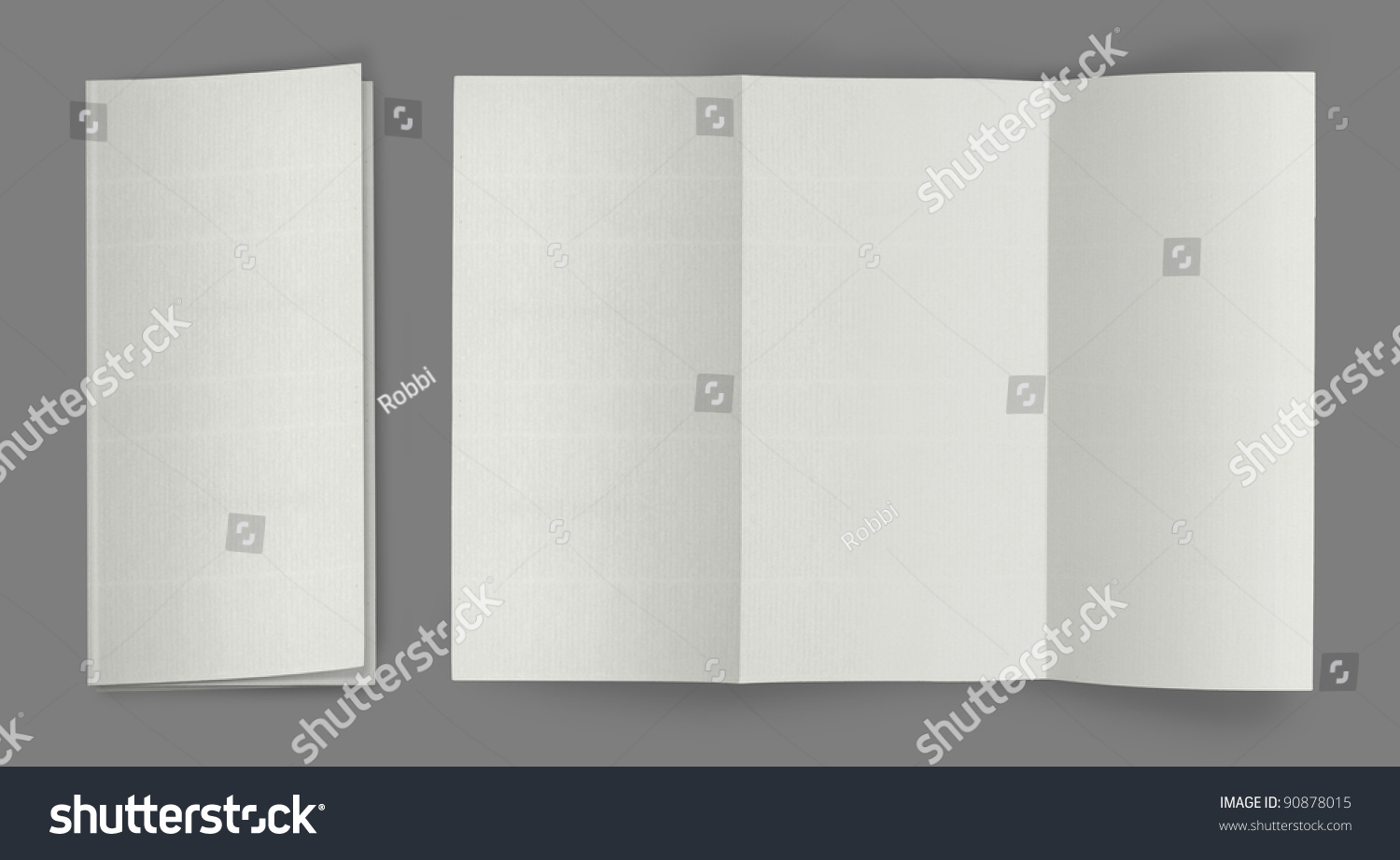 Blank Fold Flyer Brochure Template Ready For Your Design. Another Blank  Template Available At My