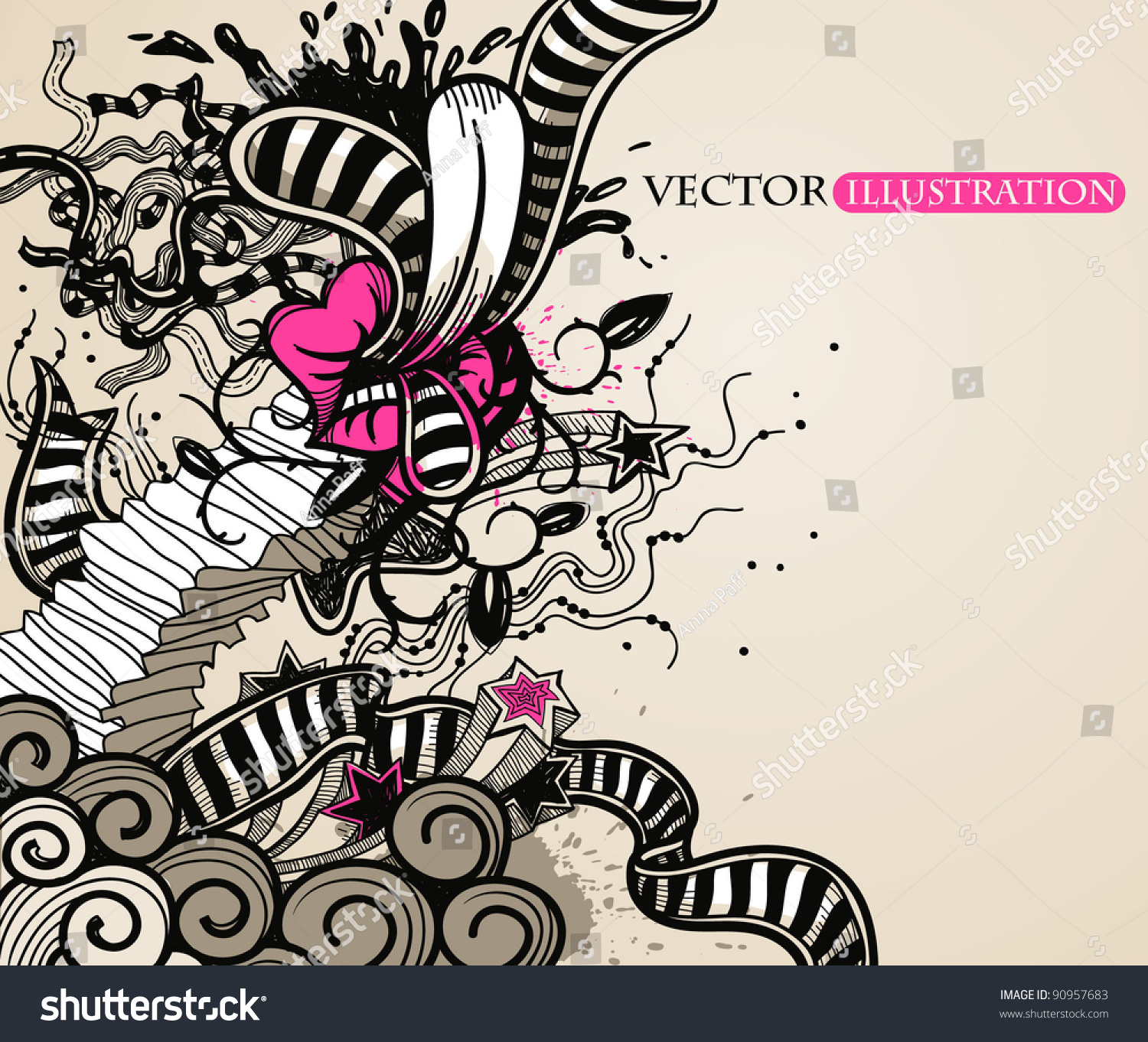 abstract vector illustration vintage style stock vector