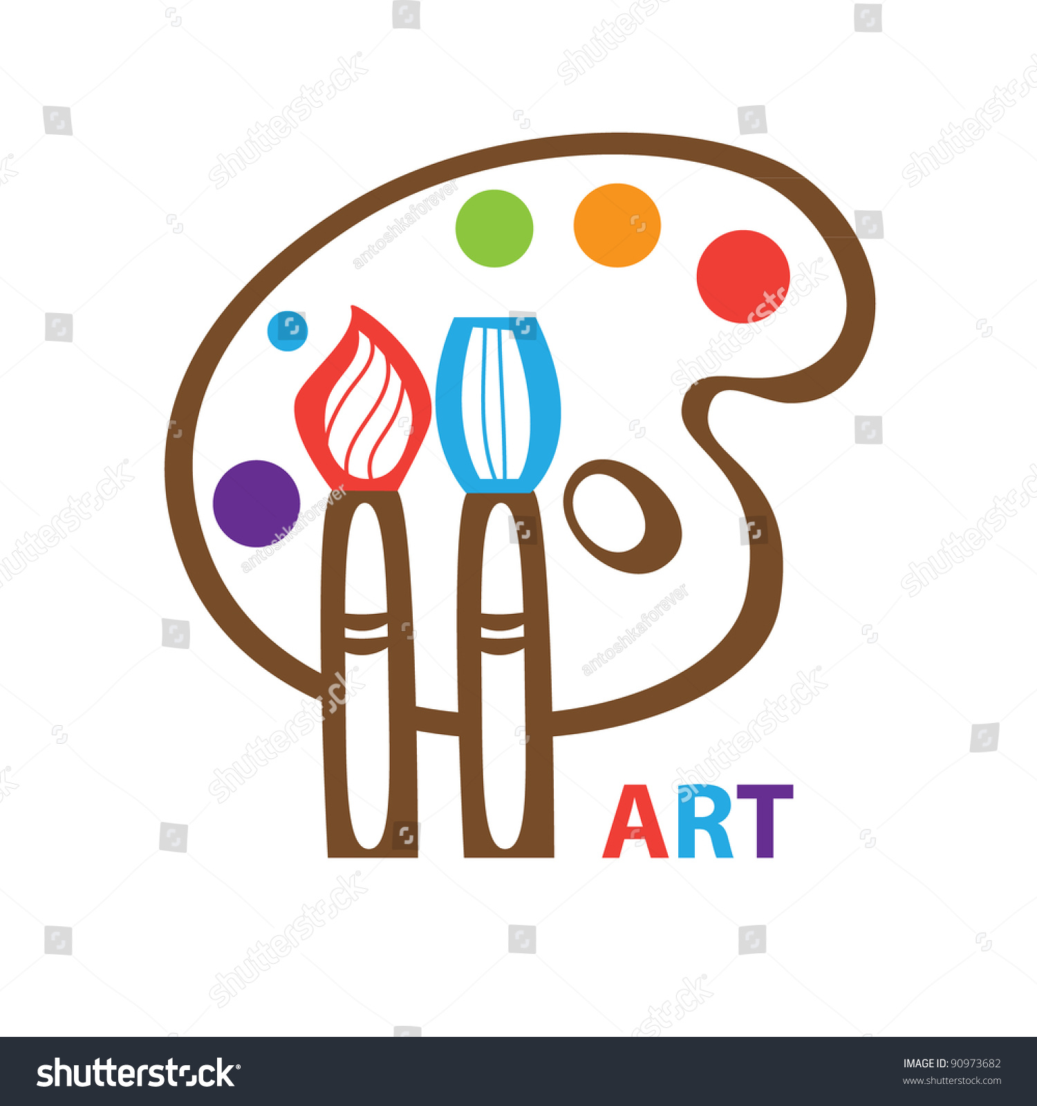 Template Icon Art Symbol Art Vector Stock Vector 90973682 ...