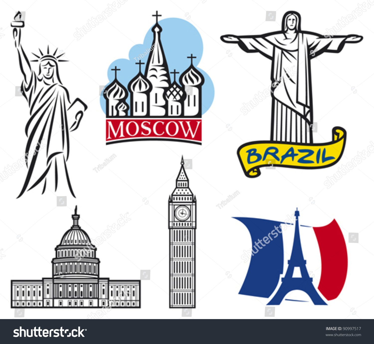 Stock Vector International Historical