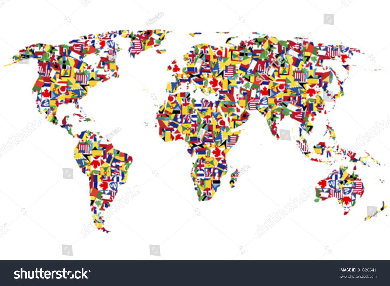 World map made flags stock vector royalty free 91020641 shutterstock world map made of flags gumiabroncs Gallery