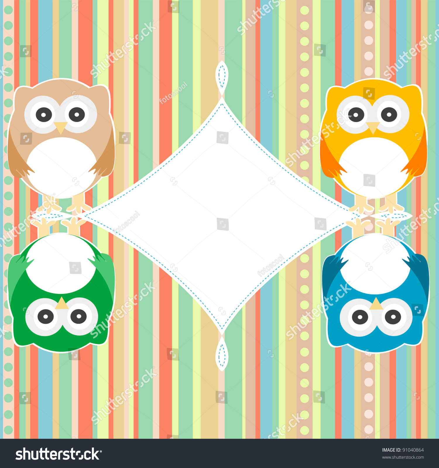 Baby owl scrap background invitation vector stock vector 91040864 baby owl scrap background invitation vector card stopboris Choice Image