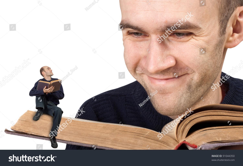 Big Small Men Reading Bible Stock Photo 91044350 - Shutterstock