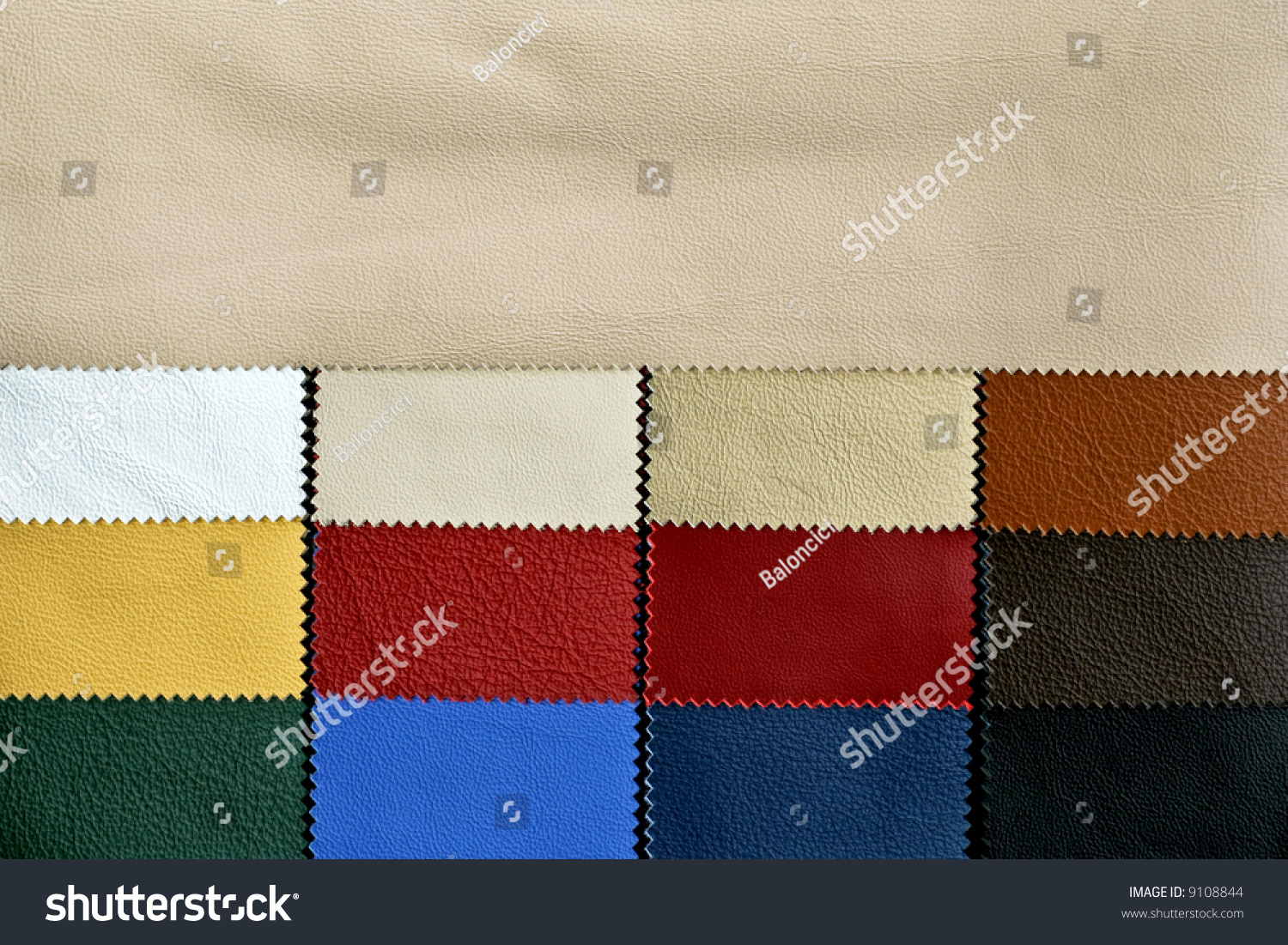 Decorative Fashion Leather Skin Color Chart Stock Photo Edit Now