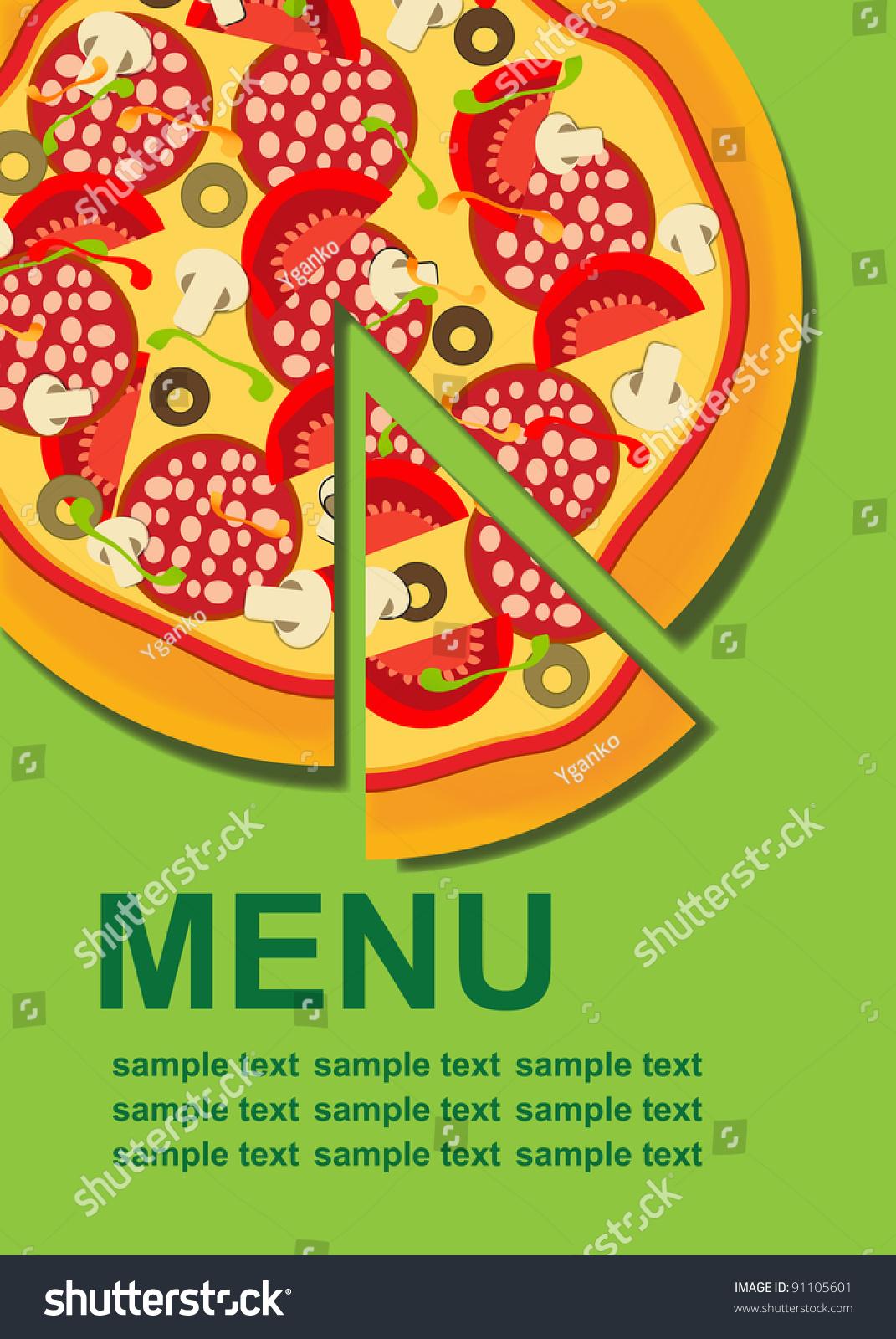 Pizza Menu Template Vector Illustration 91105601 Shutterstock – Sample Pizza Menu Template
