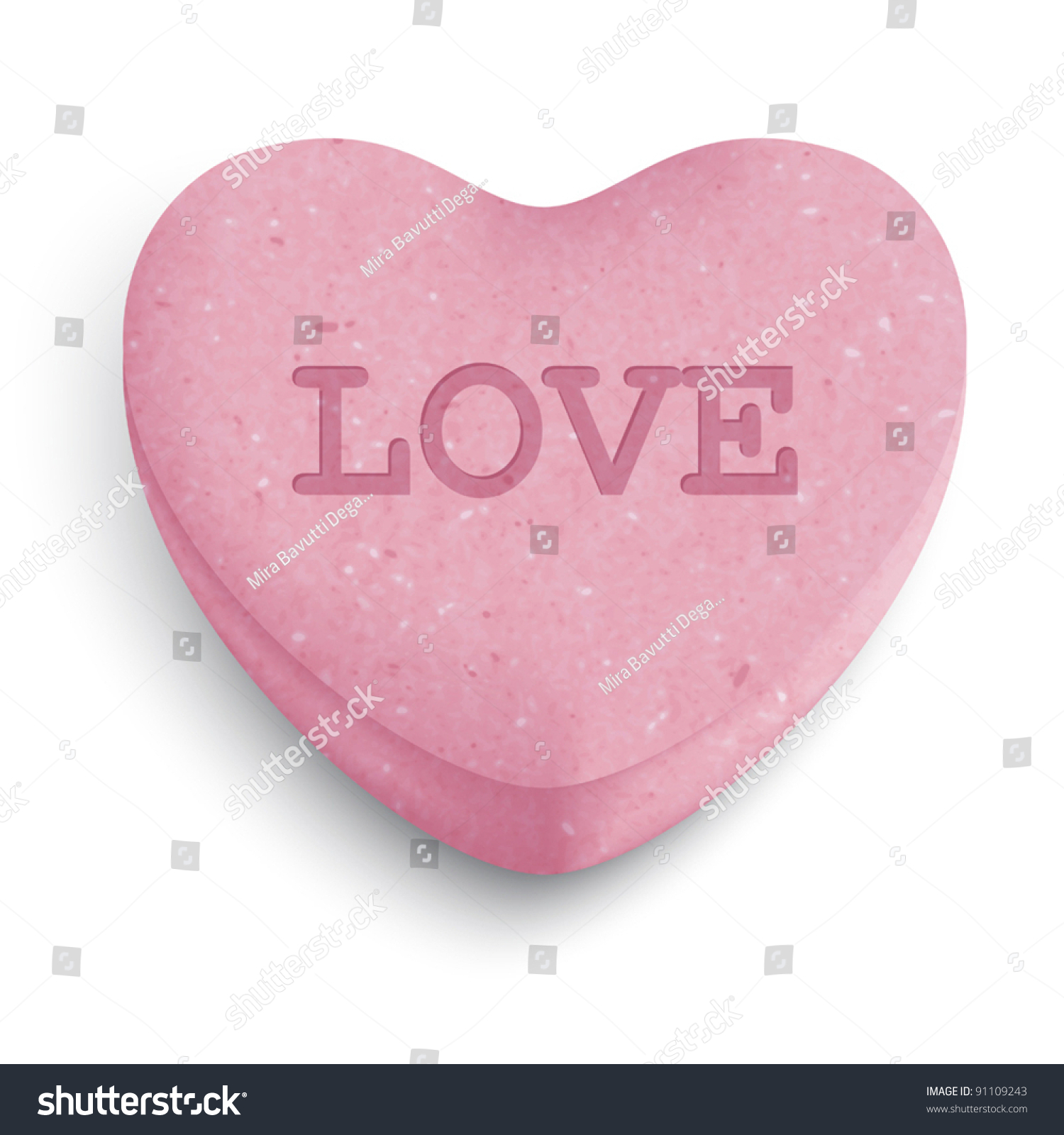 pink sugar heart candy love word stock vector hd (royalty free
