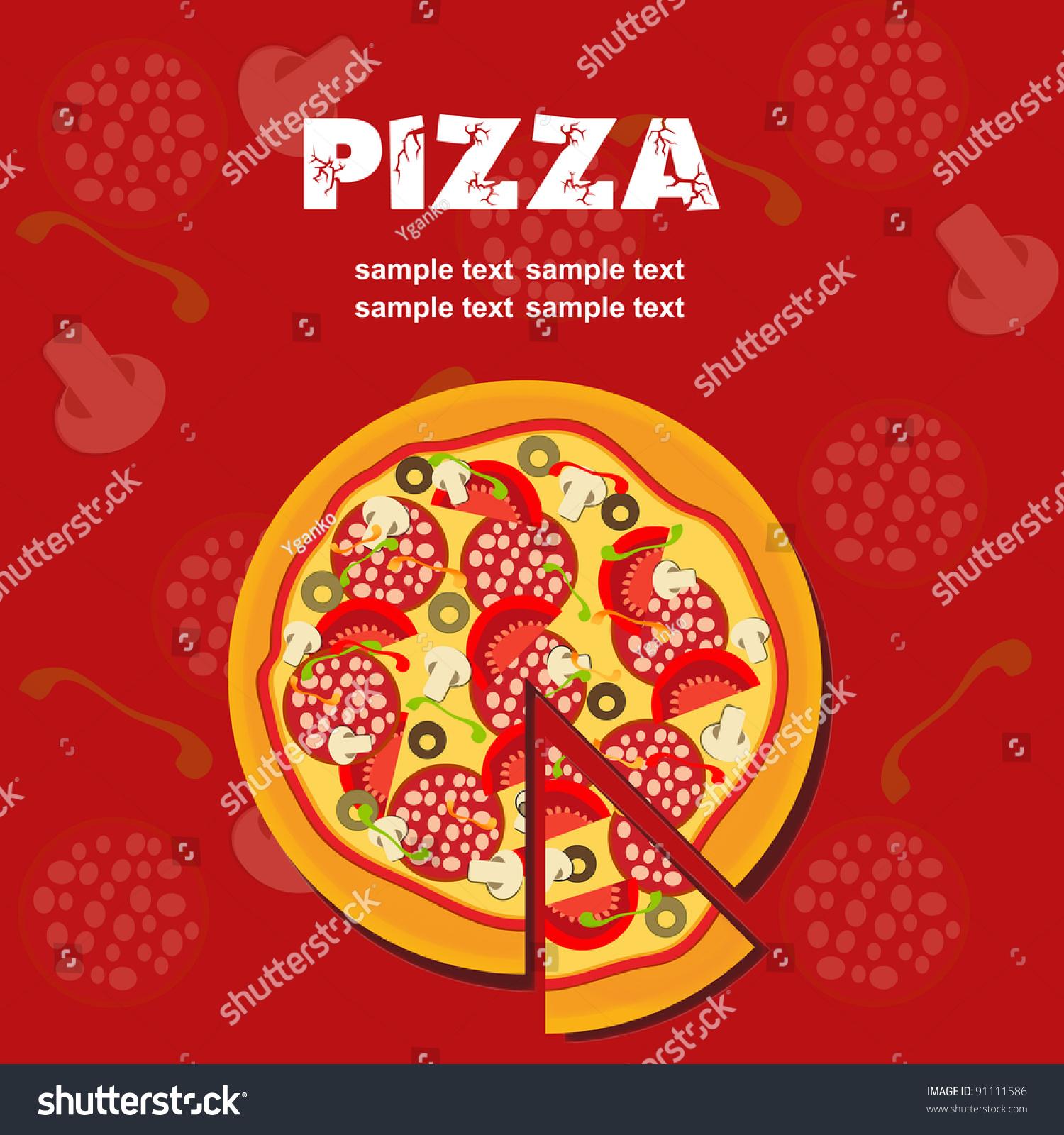 Pizza Menu Template Vector Illustration Vector 91111586 – Sample Pizza Menu Template