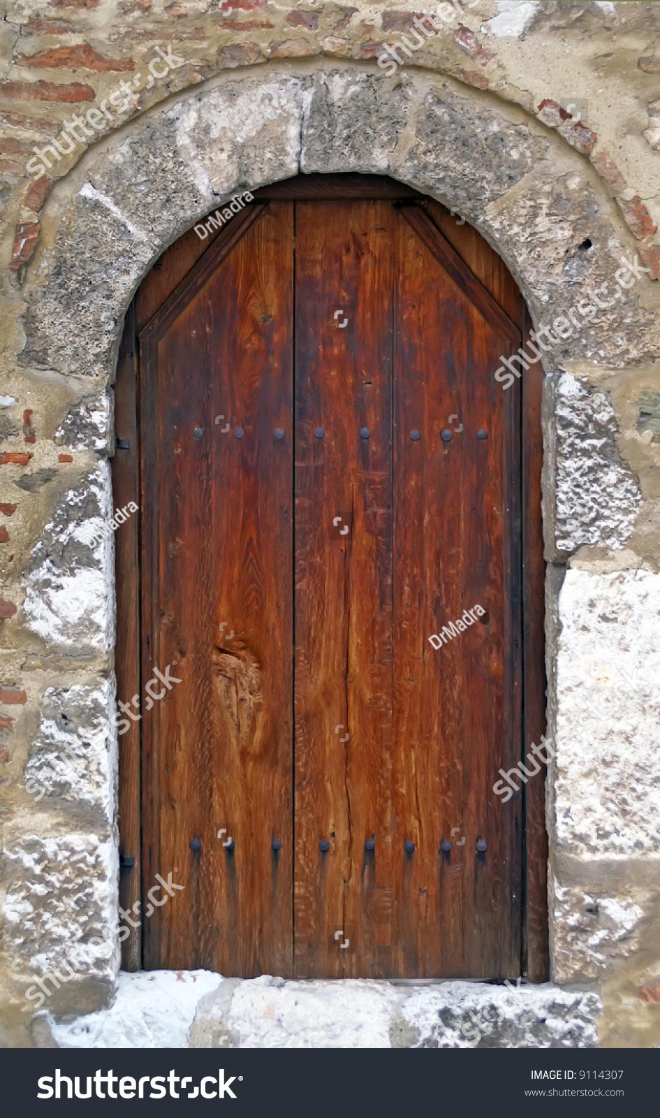 Medieval Wooden Door Stock Photo 9114307 Shutterstock
