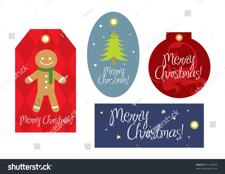 christmas gift tags template vectorillustration stock vector christmas gift tags template vector illustration