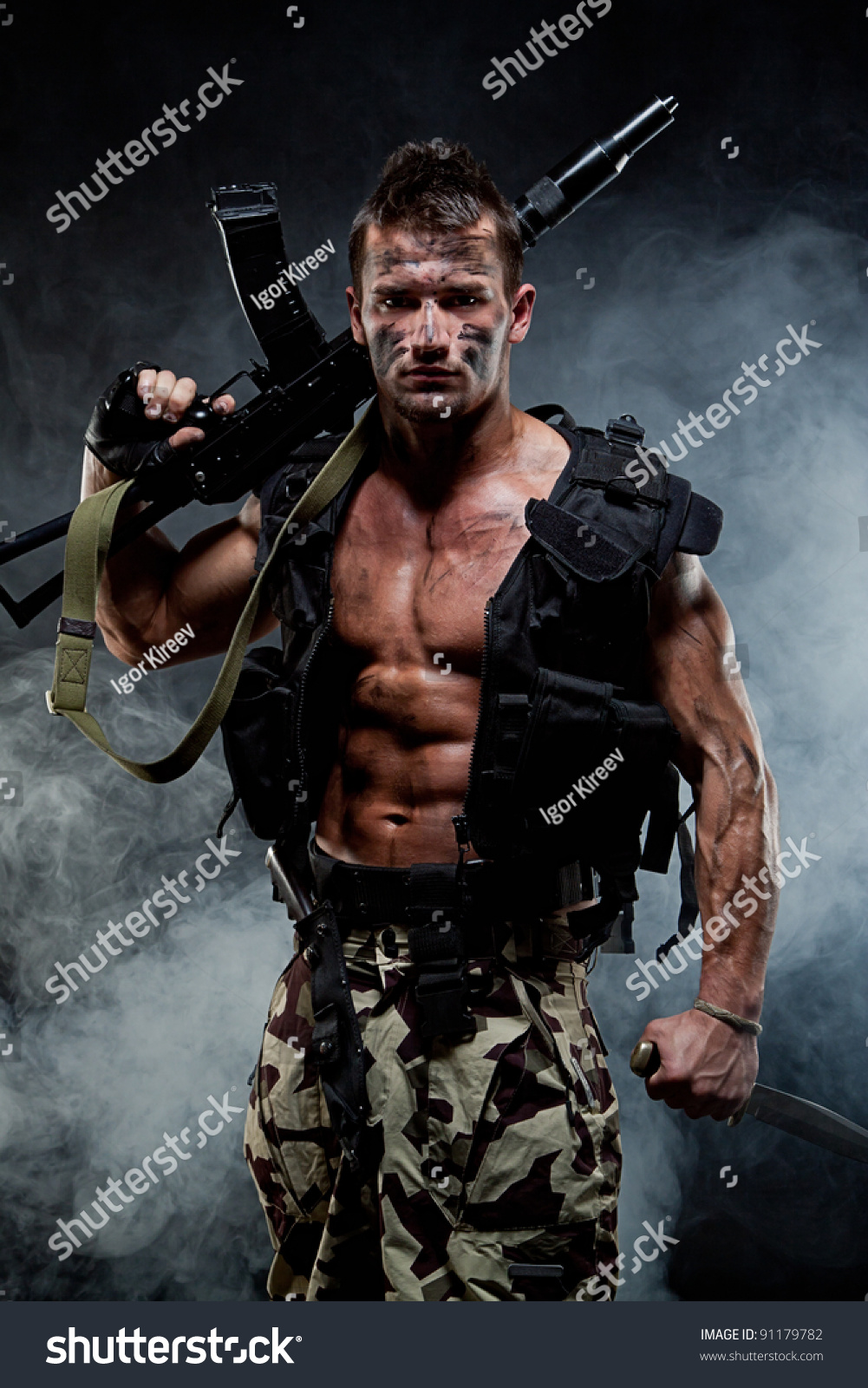 Nude Army Men Stock Photos, Pictures & Royalty-Free Images