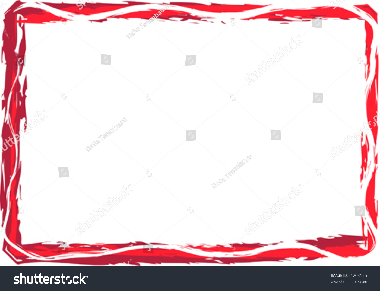 Red Whine New Year Blank Frame Stock Vector (Royalty Free) 91203176 ...