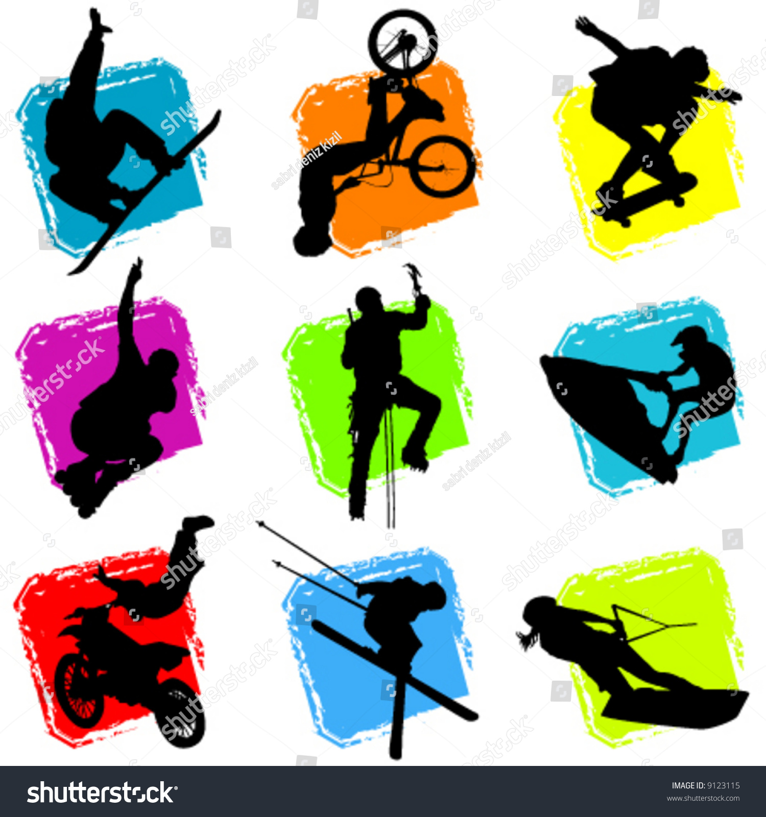 Extreme Sports Vector Stock Vector 9123115 - Shutterstock
