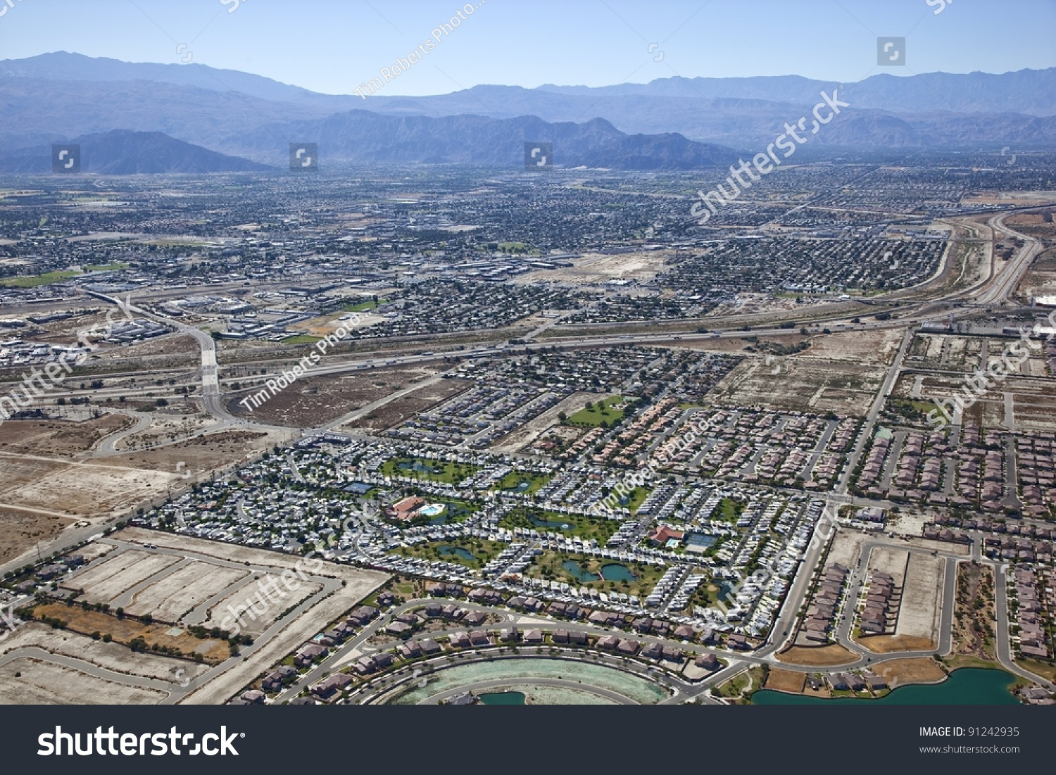Aerial View Of Interstate 10 Rv Resort And Indio