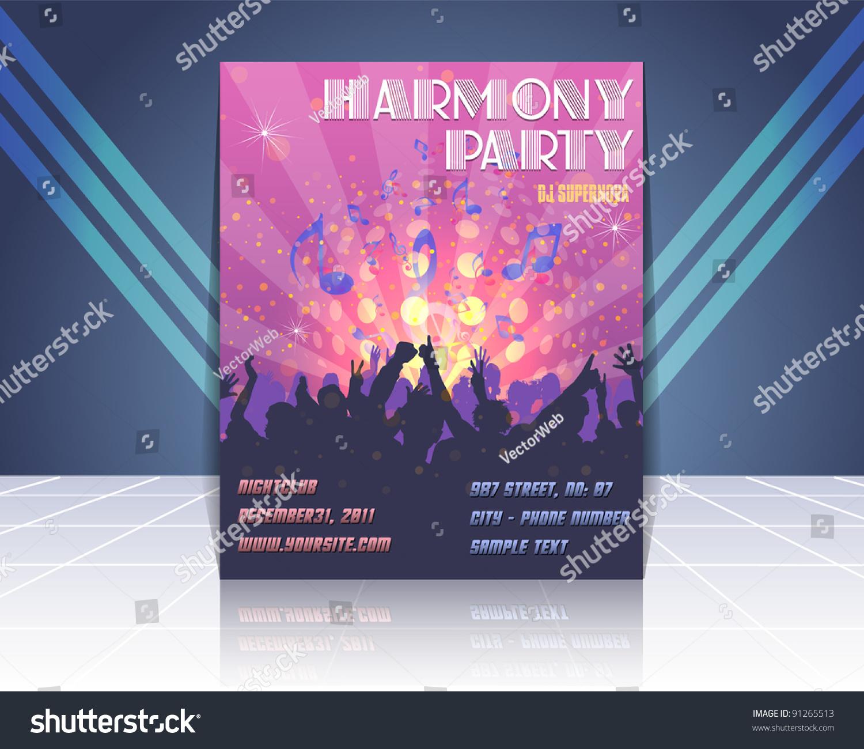 flyer design party time ez canvas