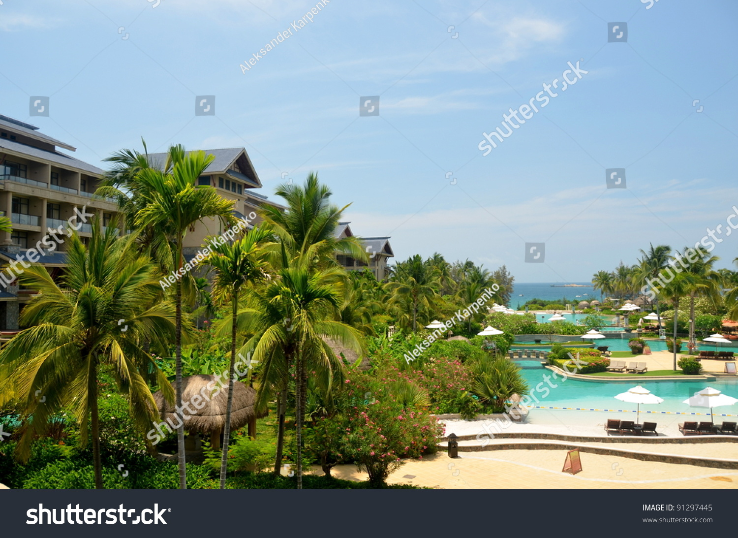 Pools On Beach South Chinese Sea Stock Photo 91297445