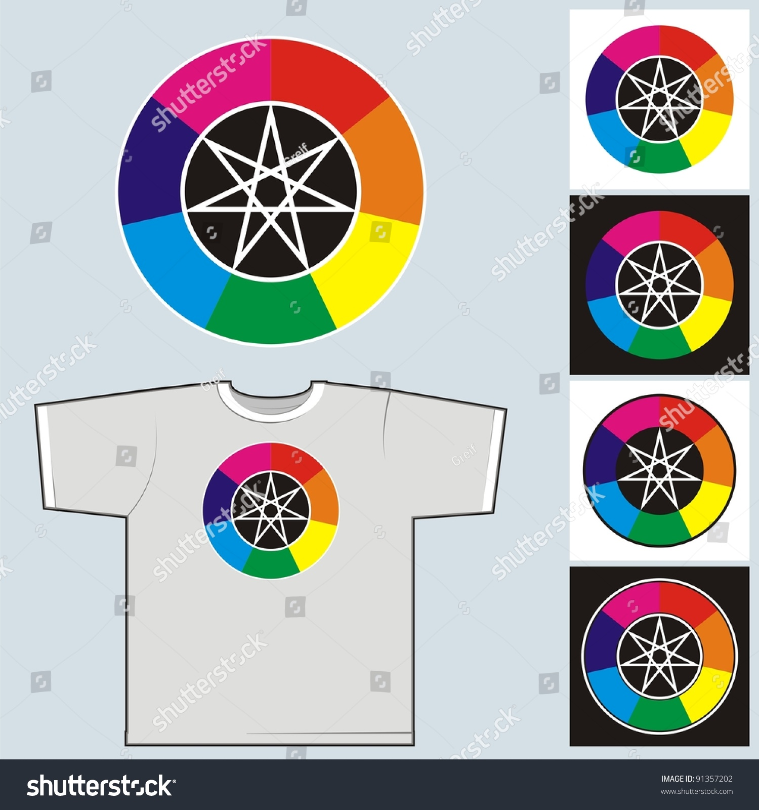 Color Wheel Seven Colors Rainbow Symbol Stock Vector Royalty Free