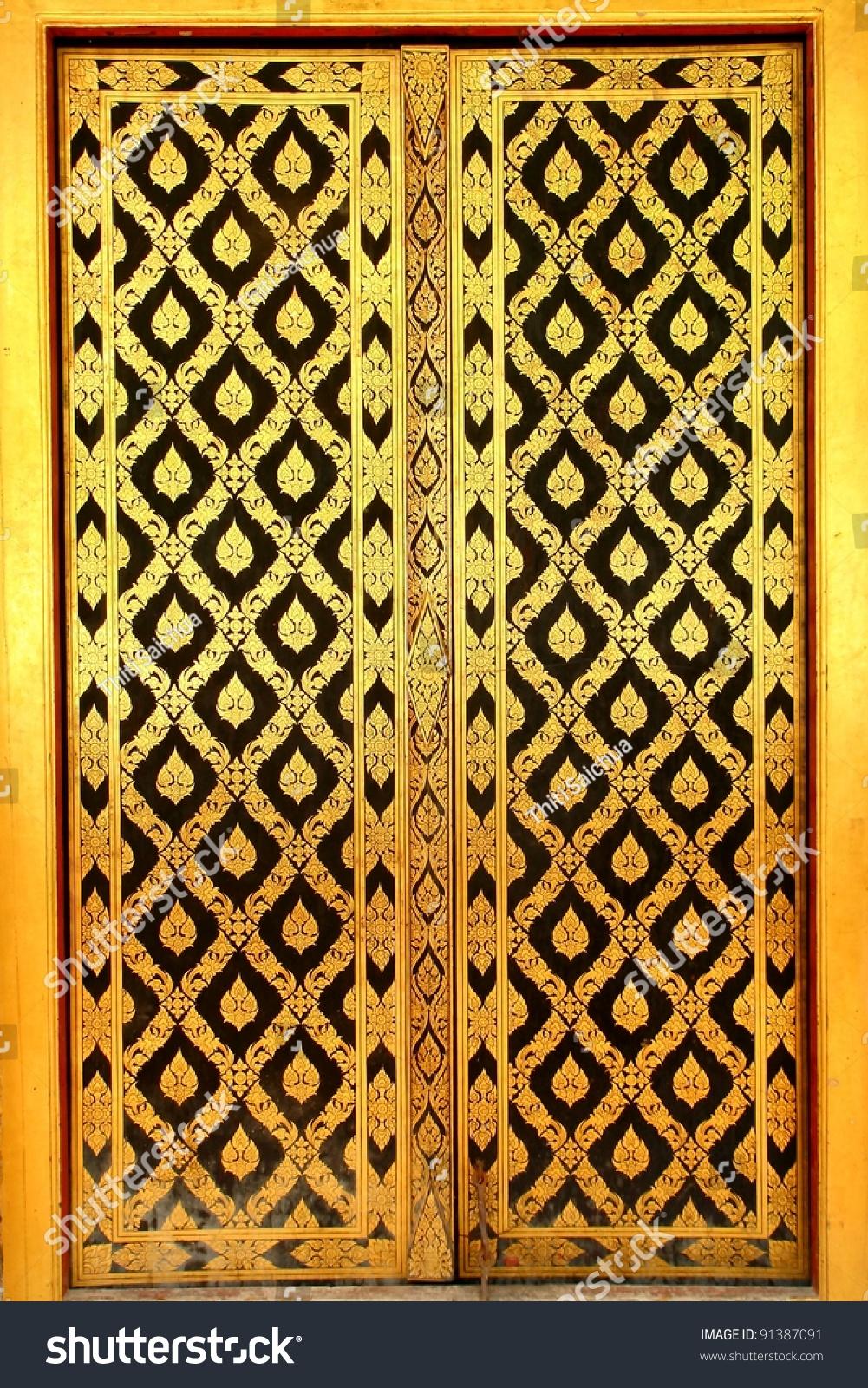 traditional old Thai door