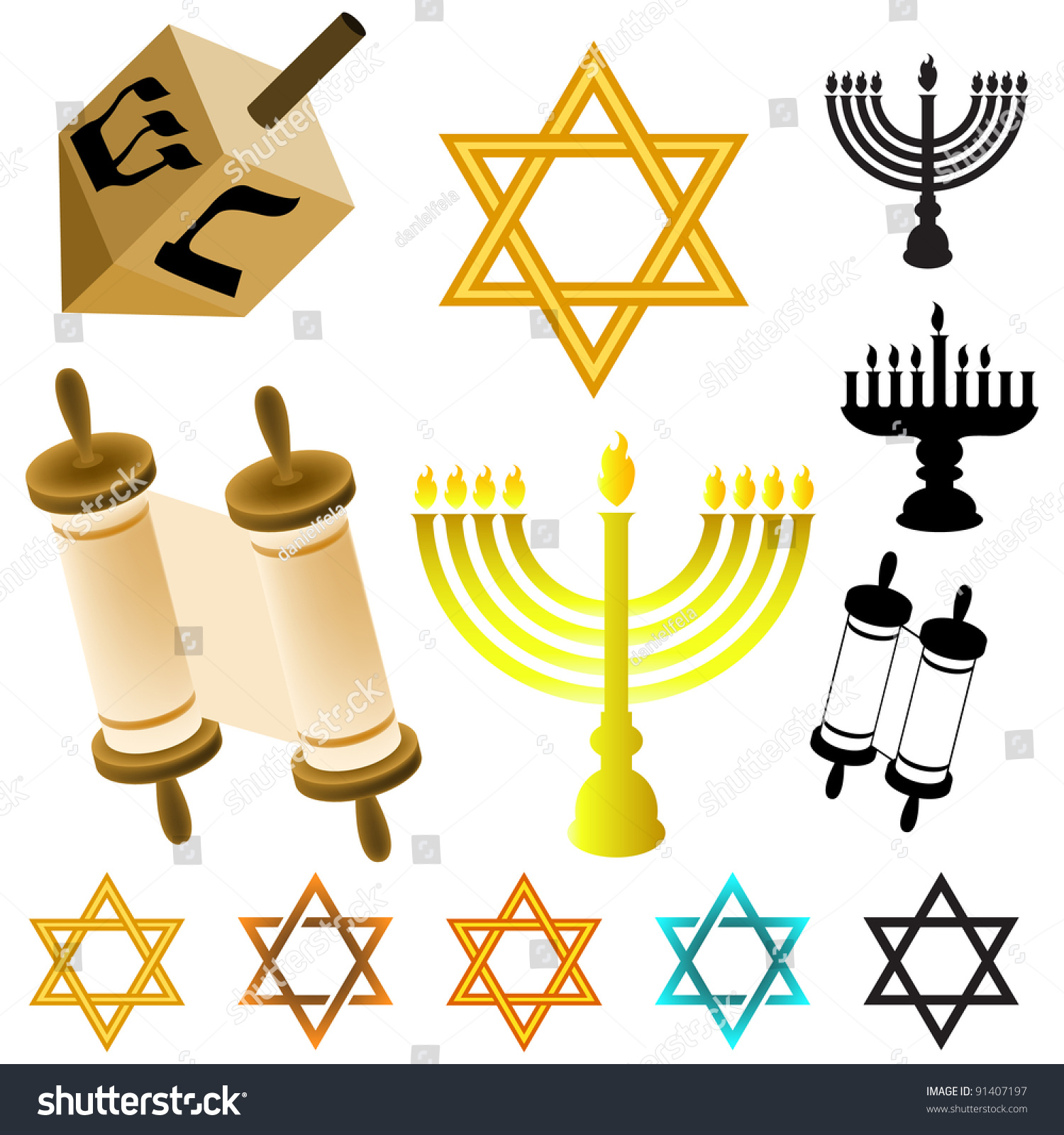 Royalty Free Stock Illustration Of Judaism Symbols Stock