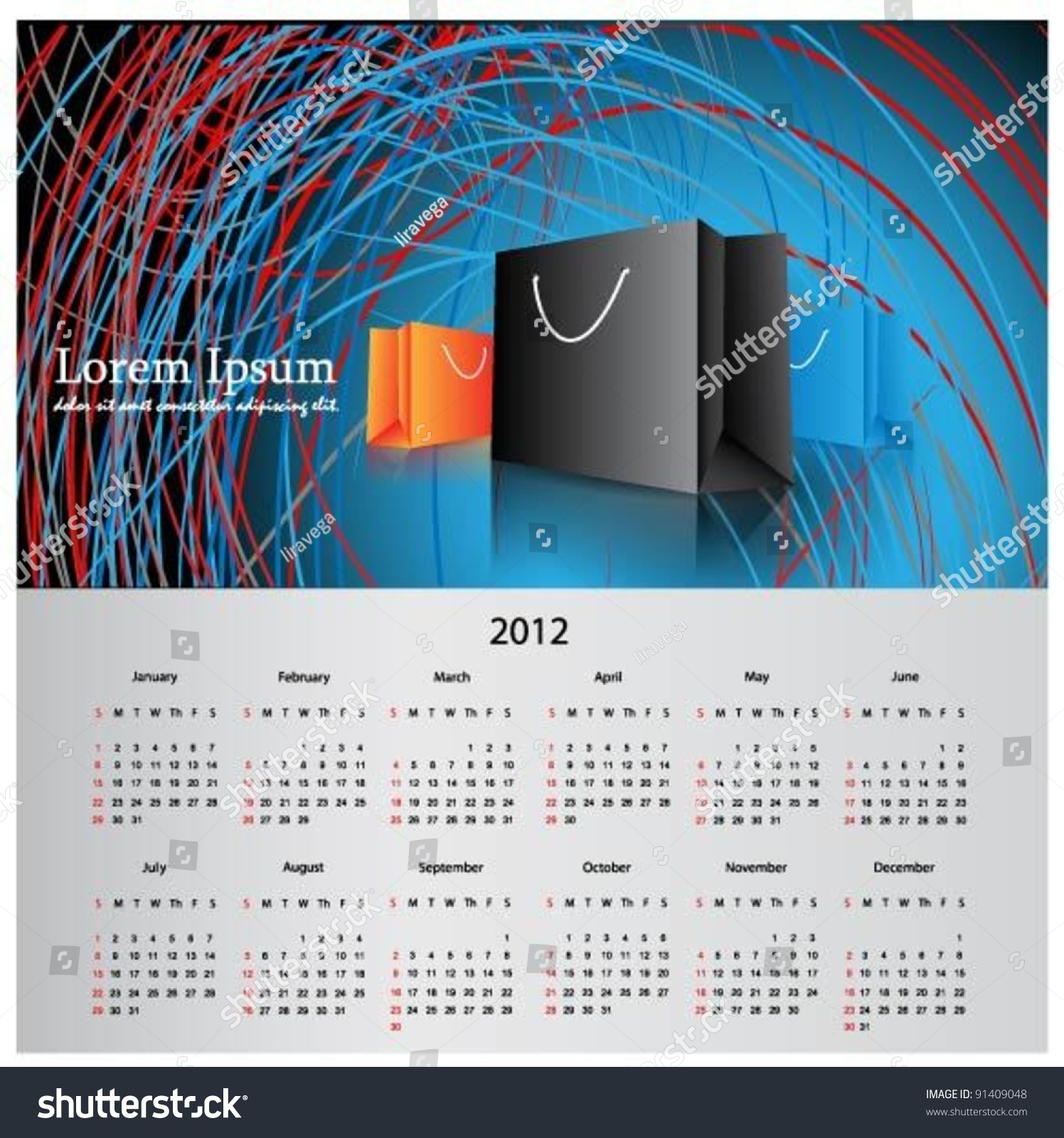 Elegant Calendar Design : Elegant calendar design for year stock vector