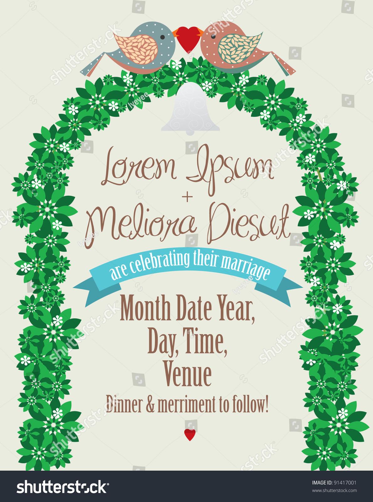Wedding Invite Card Template Vector 91417001 Shutterstock – Invite Card