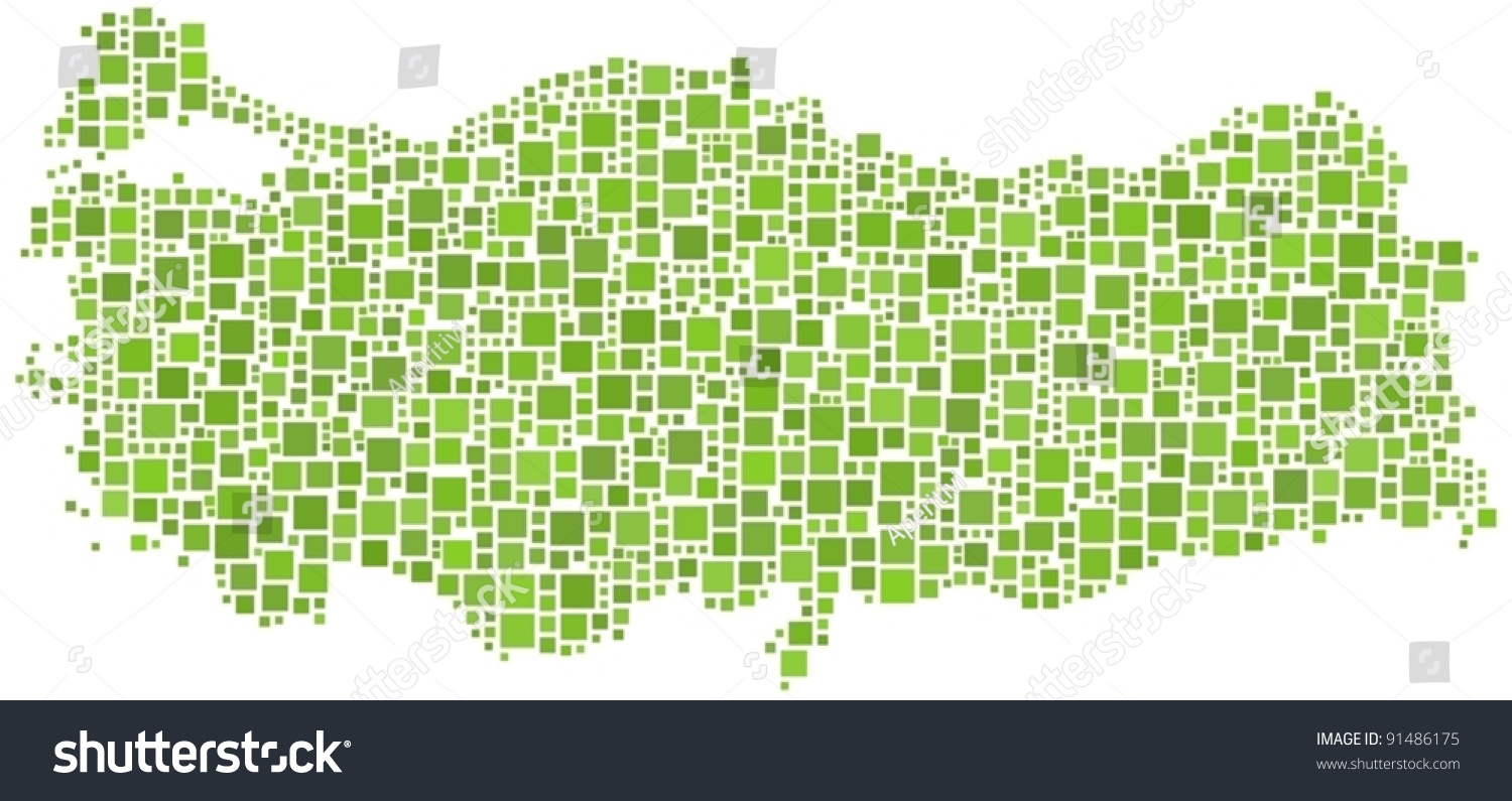 Map Turkey Europe Number 1322 Squares Vector 91486175 – Turkey on the Map of Europe