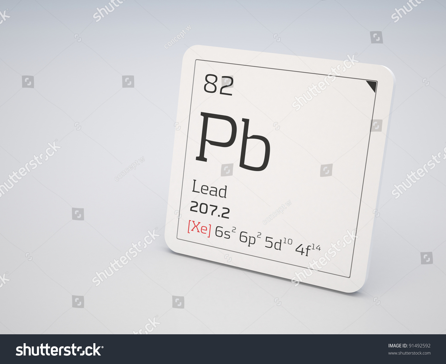 Lead element periodic table stock illustration 91492592 shutterstock lead element of the periodic table gamestrikefo Choice Image