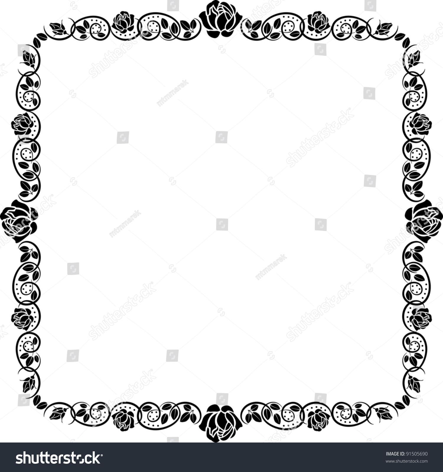square frame roses