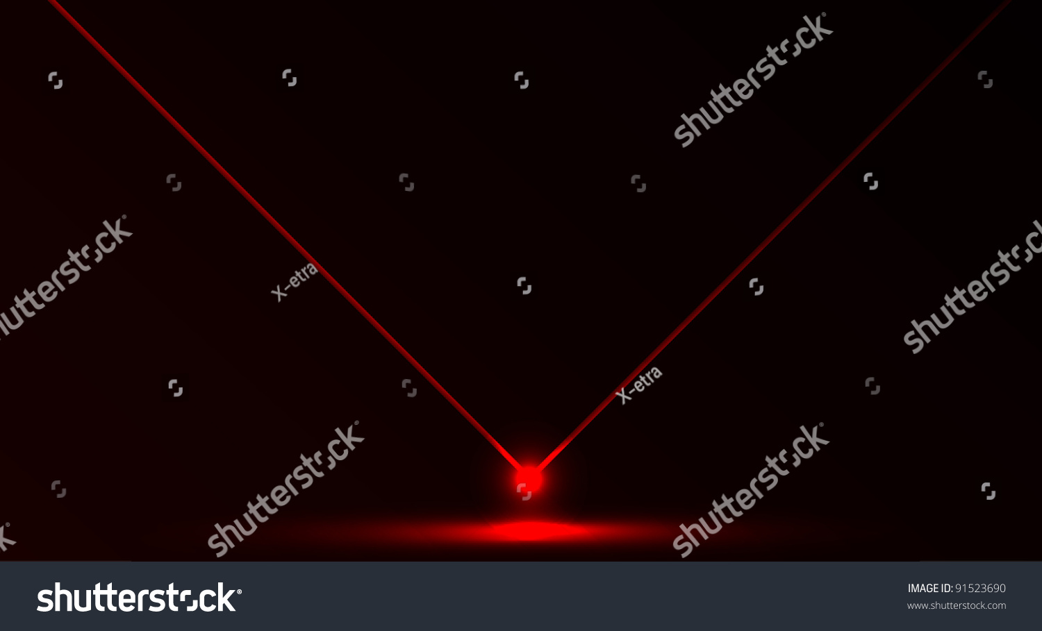 Nice Vector Laser Light Red Color Stock Vector 91523690